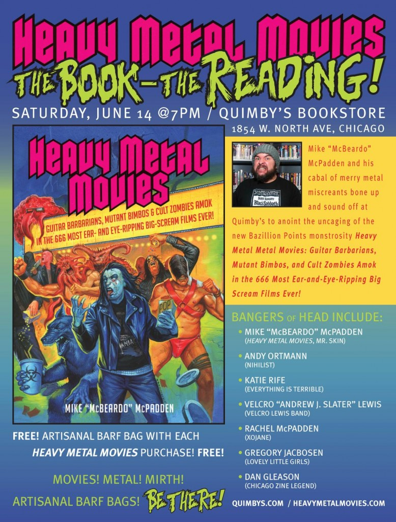 heavy metal movies author mike mcbeardo mcpadden reads with chicago metal miscreants 6 14. Black Bedroom Furniture Sets. Home Design Ideas