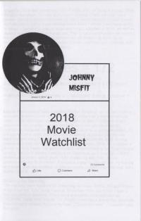 2018 Movie Watchlist