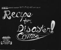 Recipe For Disaster Comix