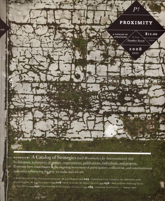 Proximity #7 A Catalog of Strategies